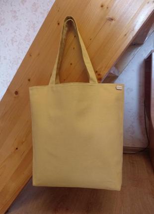 "Эко-сумка шоппер ""желтая"""