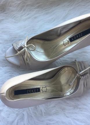 Кожаные босоножки, туфли zeket, на завязках, 38 размер