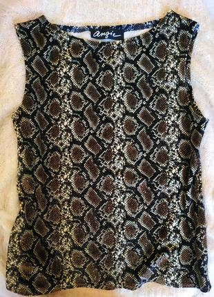 Блузка/ блуза принт змея блестящая нарядная
