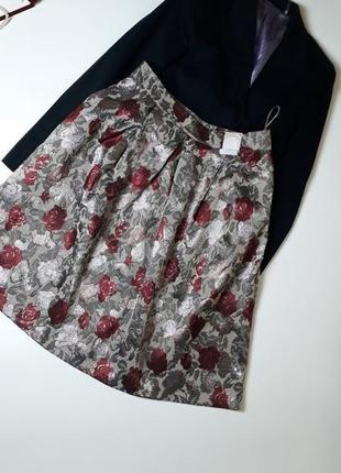 Пышная юбка жаккардовая в стиле prada