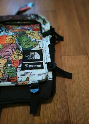 Рюкзак supreme × the north face backpack maps map
