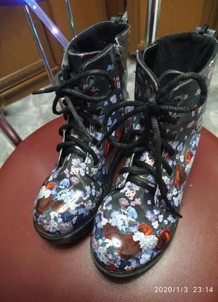 Лаковые ботинки демисезон