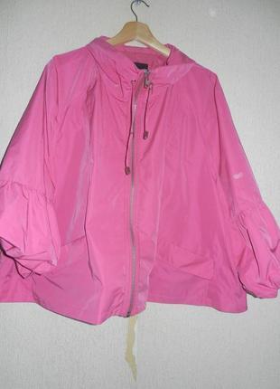 Невероятно классная куртка-ветровка- на подкладе. качество великолепное. большой размер