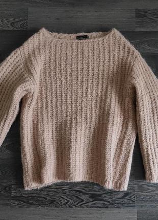 Джемпер свитер свободный шерсть мохер