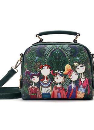 Невероятная брендовая 5д сумочка в принт человечки