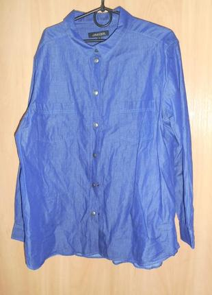 Джинсовая рубашка  джинсова сорочка18 розмір