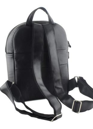 Кожаный женский рюкзак mb collection 3-015 черный, кожаный2 фото