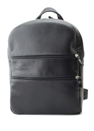 Кожаный женский рюкзак mb collection 3-015 черный, кожаный