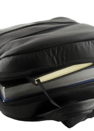 Кожаный женский рюкзак mb collection 3-015 черный, кожаный4 фото