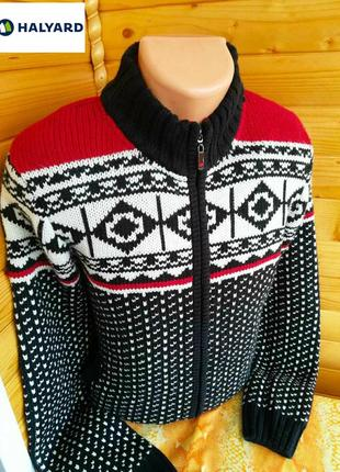 Практичный и уютный кардиган кофта куртка  толстой вязки hallyard, канада.