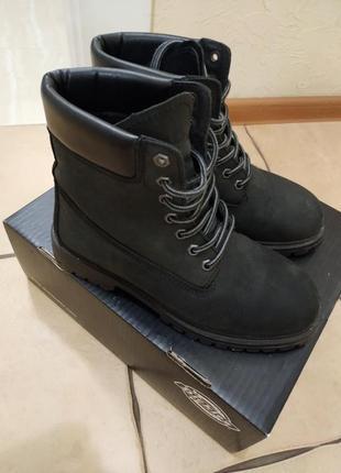 Кожаные ботинки тимберленды dickies (timberland)