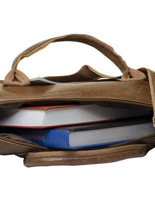 Мужская сумка для ноутбука и документов mb collection 3-021 коричневый, кожаная3 фото