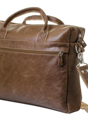 Мужская сумка для ноутбука и документов mb collection 3-021 коричневый, кожаная