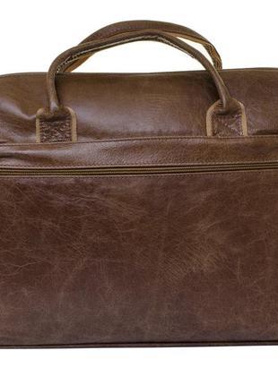 Мужская сумка для ноутбука и документов mb collection 3-021 коричневый, кожаная2 фото