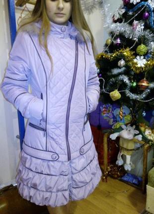 Пальто демисезон, размер 44 на синтепоне, теплое