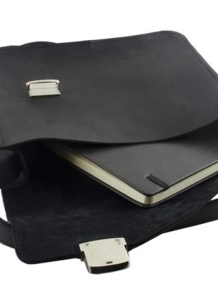 Небольшая женская сумка из винтажной кожи mb collection 3-019 черный, кожаная