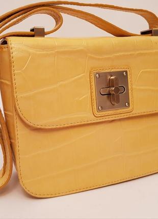 Diskins&jones💍! англия🇬🇧! суперроскошная 💣 эффектная кожаная сумка 👜 желтый nude