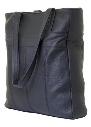 """Удобная женская сумка """"пакет"""" формата а4 mb collection 3-025 кожаная,черный"""