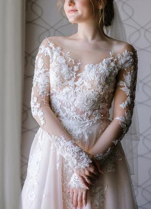 Свадебное платье mardin со шлейфом / торг / платье для невесты / весільна сукня
