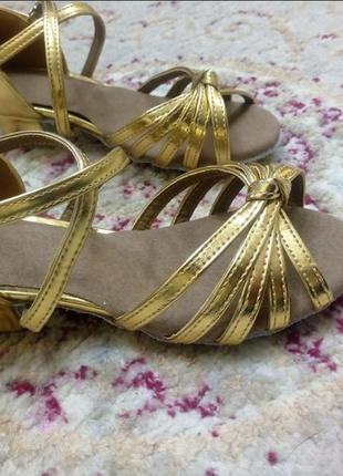 Туфли для бальных танцев золото, есть размеры2 фото