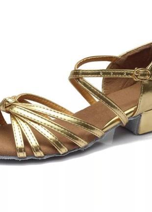 Туфли для бальных танцев золото, есть размеры4 фото