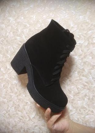 Зимние ботинки - натуральная замша - 38 размер