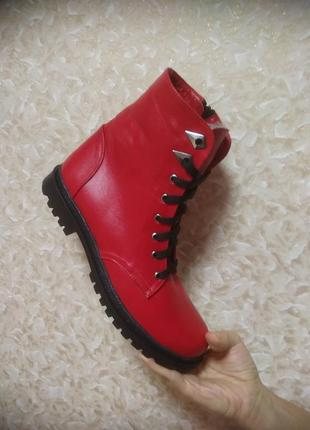 Зимние ботинки - натуральная кожа - 40 размер