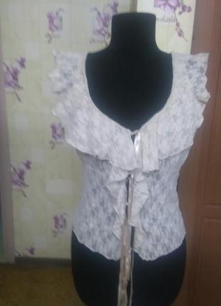 Нежнейшая кружевная французская блуза d.n.a. р.s (франция)