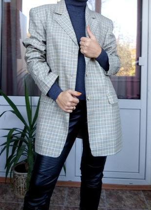Luxuri !!1saphir collection l/40 женский пиджак люксового качества в клетку/дорогой бренд