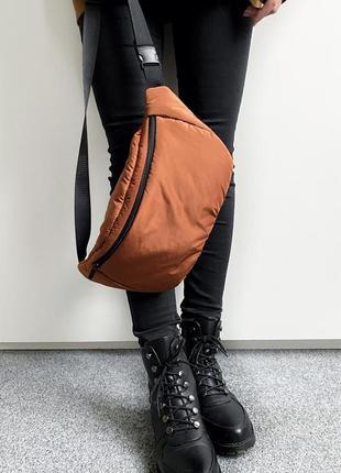 Puff bag ,  бананка унисекс  размера xl, сумка на пояс, поясная сумка из плащевки .