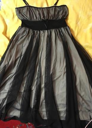 Нежное вечернее платье как бальное фатин