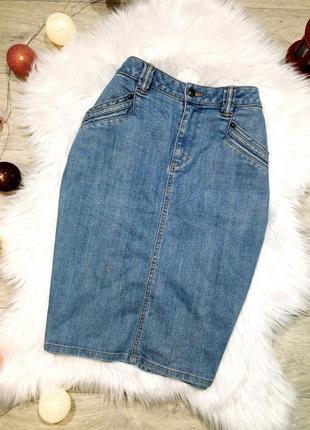 Актуальная джинсовая юбка миди h&m