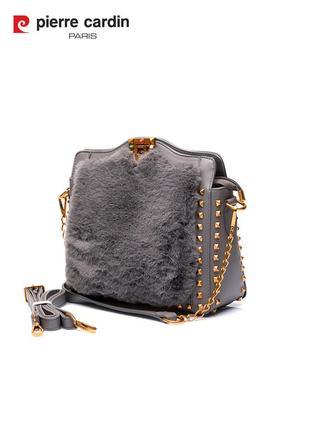 Женская сумка из меха/плюша pierre cardin