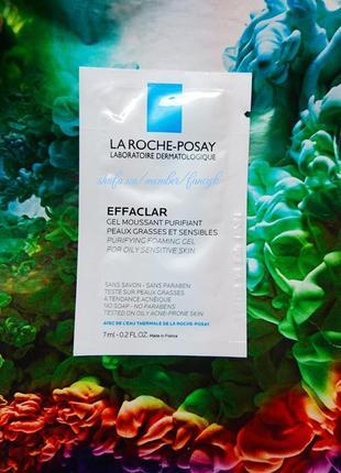 Пробник очищающий гель-мусс для жирной и проблемной кожи лица la roche-posay effaclar gel
