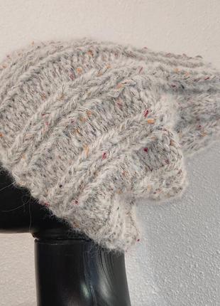 Супер нежная теплая шапка натуральная шерсть