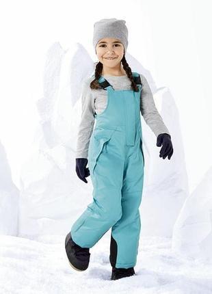 Полукомбинезон для девочки, термо штаны lupilu рост 86-92