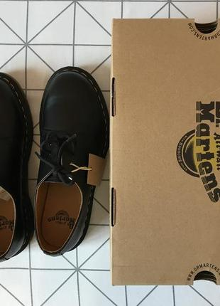 Dr. martens 1461 black smooth, черный цвет, 41eu, 8us