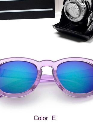 Распродажа очки-броулайнеры с прозрачной сиренево-розовой оправой и синим зеркалом