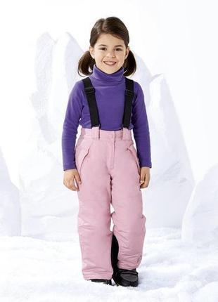Полукомбинезон для девочки, термо штаны lupilu