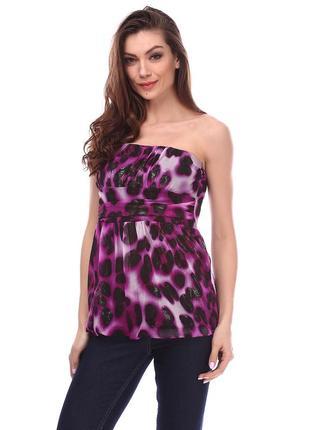 Модный леопардовый топ на лето