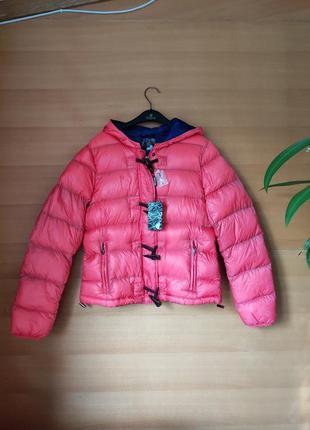 Куртка пуховик с капюшоном натуральный пух