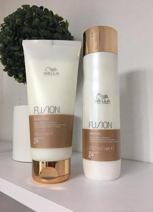 Набір wella fusion shampoo & restoring conditioner