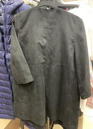Пальто (кардиган)  h&m imitation suede coat eur 38