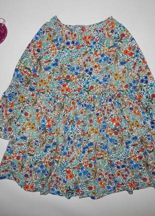 Платье в цветочки и зайки next 5-6 л