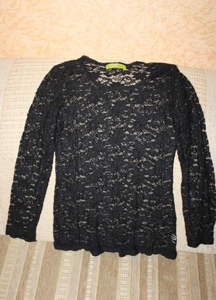 Кружевной реглан, блуза хлопок размер м, л от mongul