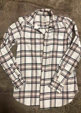 Рубашка хлопковая в клетку кантри классическая байковая