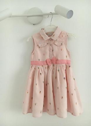 Нарядное детское летнее платье сарафан 98 см 2-3 г