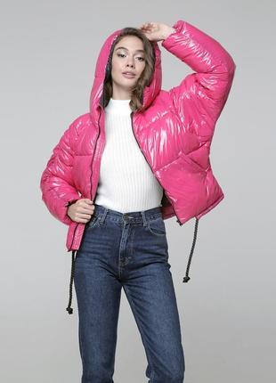 Зимний короткий пуховик - куртка для девушек. модель 2020