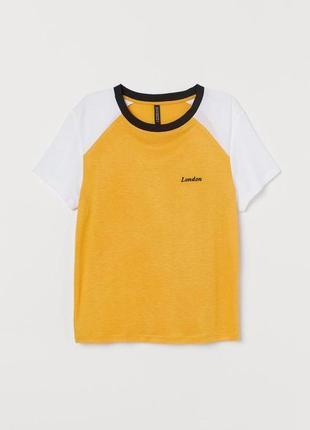 Xs/s/м h&m фирменная натуральная футболка вискоза с надписью лондон