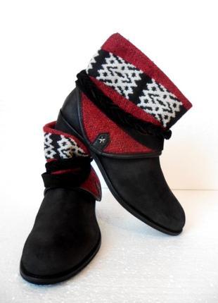 Zara сапоги ботинки кожа 40